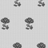 有花边的花无缝的样式 免版税库存照片