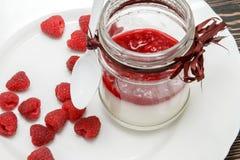 有莓果冻的潘纳陶砖 库存照片
