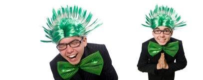 有莫霍克族发型的滑稽的人 免版税库存图片