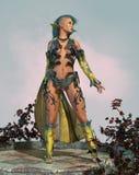 有莫霍克族的3d CG神仙 皇族释放例证
