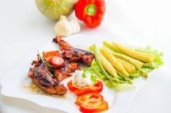 有菜的土耳其 免版税库存照片