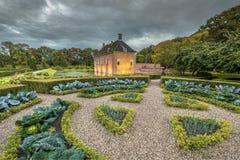 有菜的Verhildersum创造性的圆白菜庭院 免版税图库摄影