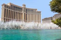 贝拉焦旅馆和赌博娱乐场,拉斯维加斯 免版税库存图片