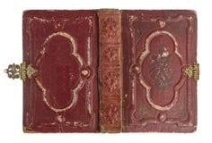 有葡萄酒装饰的旧书盖子 库存照片