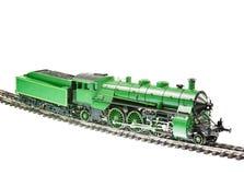 有蒸汽引擎机车的玩具火车 图库摄影