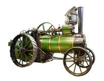 有蒸汽引擎的老拖拉机 免版税库存照片