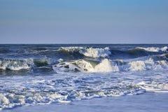 有蓝天的北海 库存照片
