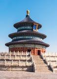 有蓝天的天坛在北京,中国 免版税库存照片