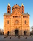 有蓝天的,德国施派尔主教座堂 库存图片