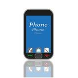 有蓝色屏幕的手机在  库存照片