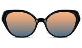 有蓝色透镜和黑塑料框架的太阳镜 库存例证