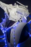 有蓝色LED光和塑料材料的利用仿生学的装甲 图库摄影