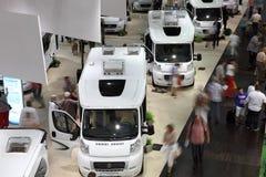 有蓬卡车沙龙陈列2013年 免版税库存图片