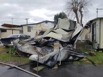 有蓬卡车爆炸我居住的地方 库存照片