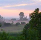 有薄雾的哈姆雷特 库存照片
