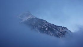 有薄雾的土地 免版税库存照片