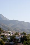 有薄雾的山西班牙语别墅 免版税库存图片