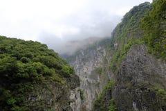 有薄雾的峡谷 免版税库存照片