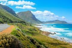 有薄雾的峭壁南非 免版税库存照片