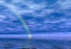 有薄雾的彩虹 免版税库存照片
