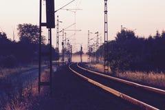 有薄雾的日落 免版税库存图片