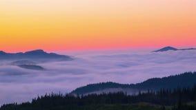 有薄雾的早晨山 股票录像