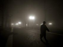 有薄雾的晚上 免版税图库摄影
