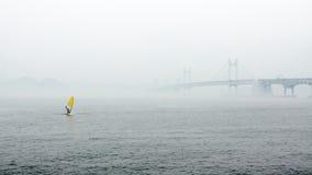 有薄雾的横向 库存照片