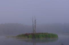 有薄雾的海岛在Riese 库存图片