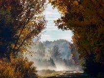 有薄雾的科罗拉多西部 免版税库存照片