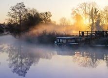 有薄雾的英国 库存图片
