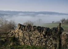 有薄雾的视图 免版税图库摄影