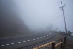 有薄雾的路 库存照片
