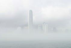 有薄雾的ifc 免版税图库摄影