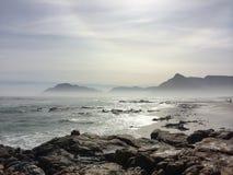 有薄雾的Seaview 库存照片