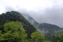 有薄雾的taroko峡谷 免版税库存图片