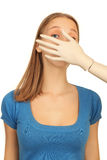 有虚拟的女孩 免版税库存图片