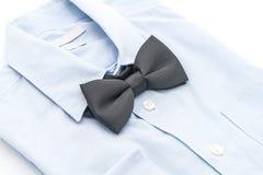 有蝶形领结的衬衣 库存照片