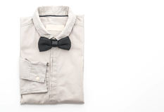 有蝶形领结的衬衣 库存图片