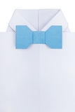 有蝶形领结的Origami衬衣 免版税图库摄影
