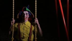 有血淋淋的构成的一个小丑在摇摆 股票录像