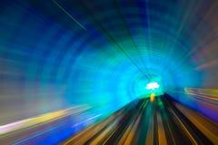 有行动迷离的隧道 免版税库存图片