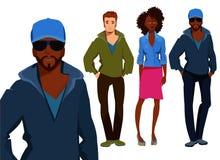有行家时尚样式的人们 免版税图库摄影