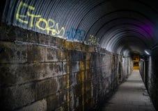 有街道画的都市走道 免版税图库摄影