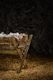 有衣裳的饲槽在谷仓 免版税库存图片