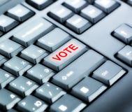 有表决按钮的键盘 免版税库存图片