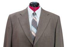 有衬衣和领带接近的绿色羊毛夹克 图库摄影