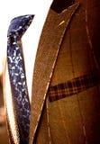 有衬衣的在时装模特的夹克和领带 库存照片