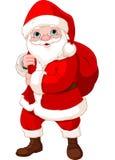 有袋子的圣诞老人 免版税库存图片