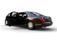 有被打开的门的大型高级轿车汽车 向量例证